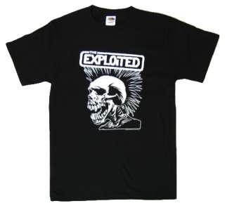 The EXPLOITED Skull OLD School UK Street Punk T Shirt