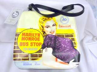 CENTURY FOX MARILYN MONROE BUS STOP PURSE MEDIUM SIZE BLACK