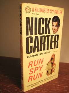 Edition RUN SPY RUN Nick Carter KILLMASTER Rare SPY Classic FIRST BOOK