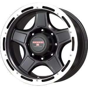 Level 8 Matte Black Wheel with Machined Lip (17x9/5x114