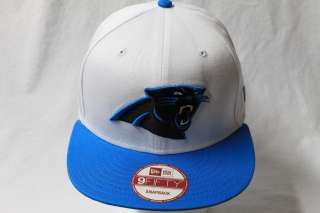 CAROLINA PANTHERS NFL NEW ERA 9FIFTY STRUCTURED SNAPBACK HAT CAP WHITE
