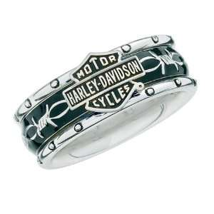 : Sterling Silver Harley Davidson Ladies Rumble & Roll Ring: Jewelry