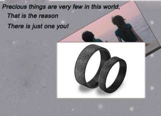 Titanium Steel Frosted Black Promise Rings Couple Wedding Bands Many