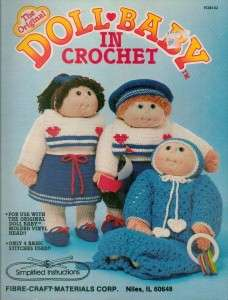 Crochet Soft Sculptured Doll & Clothes Pattern for Doll Heads Your