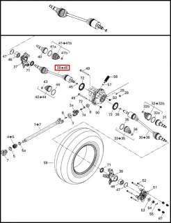 CAN AM COMMANDER LEFT FRONT DRIVESHAFT DRIVE SHAFT CV 705400953 CAN AM