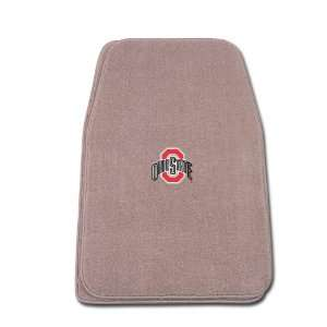 Fit Front Two Piece Floormat with NCAA Ohio State Logo Automotive