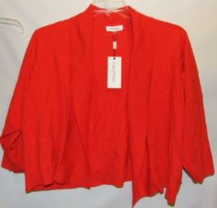Calvin Klein Red Shrug Sweater Womens Plus Size 2X