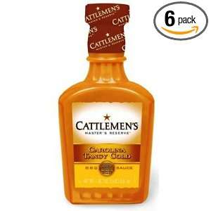 Cattlemens Barbecue Sauce, Carolina Tangy Gold, 18 Ounce Plastic