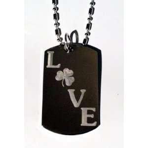 Irish Four Leaf Lucky Clover Love Logo Symbols   Military
