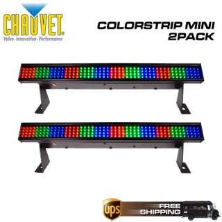 CHAUVET COLORSTRIP MINI LED RGB DJ LIGHTING BAR 2 PACK 781462203726