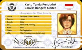 Canvas Rangers United ID Card Police Special Agent