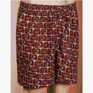 Virginia Tech Hokies NCAA Mens Pattern 2 Boxer Shorts
