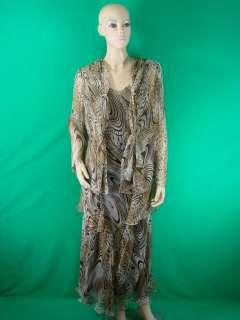 SUPERB CATTIVA LEOPARD PRINT SILK DRESS & JACKET SIZE10