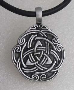 Triquetra Triangle Celtic Knot Silver Pewter Pendant