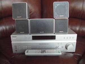 SONY STR K760P STEREO FM AM RECEIVER W/ 5 SONY SPEAKERS