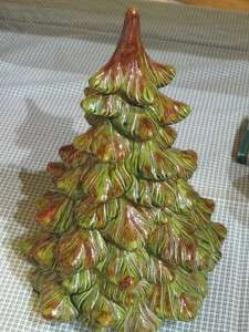 RETRO 1970 Estate Holland Mold Ceramic CHRISTMAS TREE FABULOUS