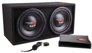 Cerwin Vega HED Series Bass Kit Dual 12 Subwoofers with Amp and Box