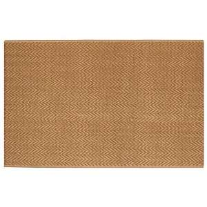 Extra Weave Chevron 5 by 8 Foot Jute Latex Backed Rug