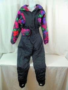 Snuggler Ski Suit Style 4005 Tea Rose Sz 8 Ladies Black