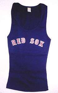 Boston Red Sox ladies BLUE Tank Top shirt Womens S