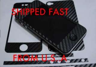 Fiber Full Body Skin Wrap BLACK Protector SHIP WORLDWIDE CHEAP