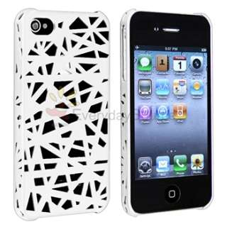 Bird Nest Rear White Hard Snap on Case Cover for iPhone 4 G 4S