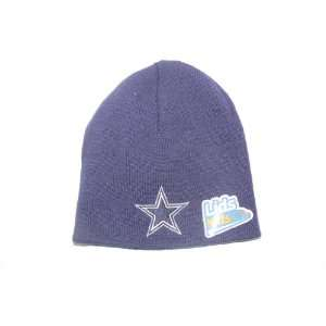 Dallas Cowboys Blue Child Size Beanie Hat Ski Skull Cap