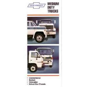 1988 CHEVROLET MEDIUM DUTY TRUCK Sales Folder Piece