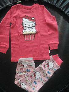 Baby Gap Cotton Pajamas Girls Hello Kitty Long Underwear 18M   24 M