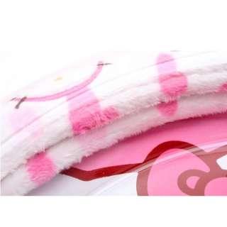 Hello Kitty Furry Heart Pattern Steering Wheel cover