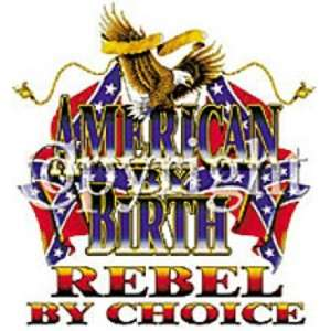 AMERICAN BY BIRTH REBEL BY CHOICE SHIRT BIKER USA EAGLE