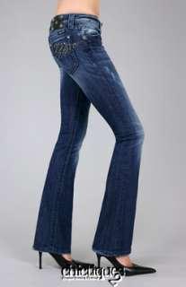 MISS ME Jeans Night Flight Leather Rising Wing Denim Boot Cut JP5331B4
