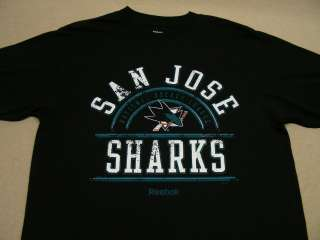 SAN JOSE SHARKS   NHL   REEBOK   BLACK   MEDIUM SIZE T SHIRT   NEW