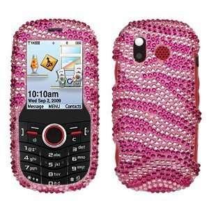 Sparkling Pink with Hot Pink Zebra Strip Full Diamond