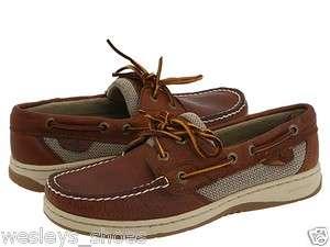 Sperry Top Sider Womens Bluefish 2 Eye Boat Shoe Tan Pebble 9276632
