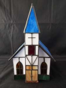 Stained Glass Church Night Light