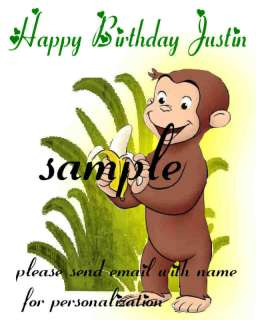 CURIOUS GEORGE EDIBLE CAKE IMAGE TOPPER clik2c all