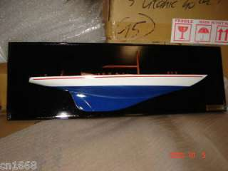 endeavour half hull hand made wooden model ship