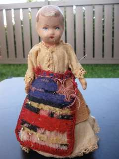 VINTAGE ROLLING COMPOSITION GIRL DOLL CHILD TOY NEAT