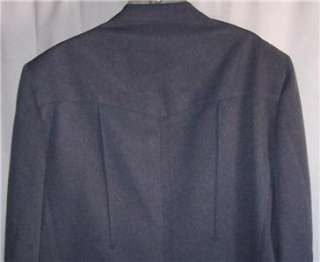 48XL MR Man BLUE WESTERN COWBOY sport coat suit blazer jacket men