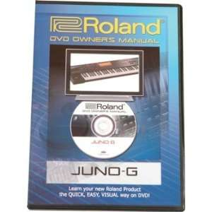 Roland DVD Manual for Juno G (Juno G DVD Owners Manual