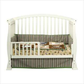 in 1 Convertible Wood w/ Toddler Rail White Crib 048517008805