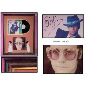 Elton John Autographed/Hand Signed Album Cover Jump Up