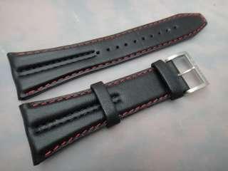 Seiko Sportura Kinetic Watch 26mm Black Strap Red Line