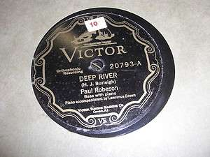 PAUL ROBESON VICTOR 78*RPM RECORD 20793 DEEP RIVER