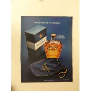 crown royal whiskey, 1971 print ad (bottle/gift box/.) Orinigal