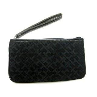 Tommy Hilfiger Logo Wristlet in Black / Tonal (TH HANDBAGS, PURSES
