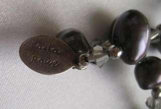 Laila Rowe Faux Grey Lavender Faux Pearl Necklace Estate