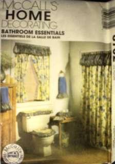 UNCUT McCalls Pattern Bathroom Essentials Curtain Cover