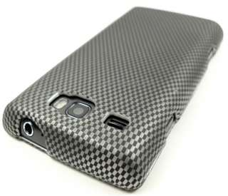 FOR SAMSUNG FOCUS FLASH i667 AT&T CARBON FIBER LOOK HARD COVER CASE